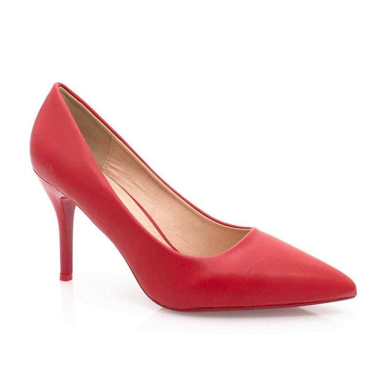 Escarpin Femme Aiguille - Chaussures Classique - Haut Talon 8 CM Couleur ROUGE