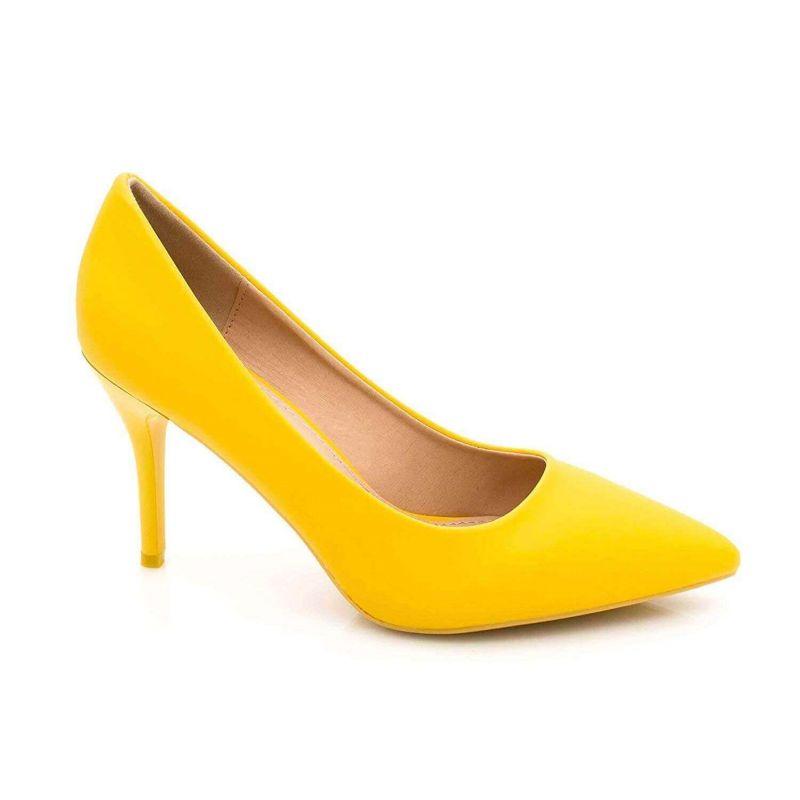 Escarpin Femme Aiguille - Chaussures Classique - Haut Talon 8 CM Couleur JAUNE