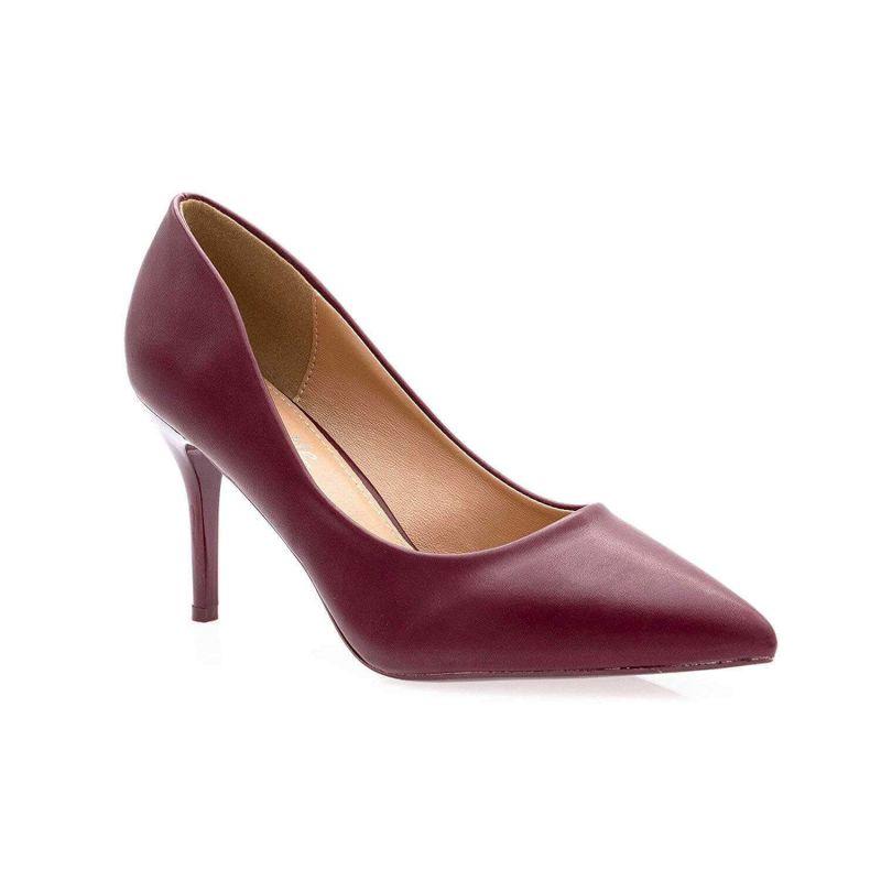 Escarpin Femme Aiguille - Chaussures Classique - Haut Talon 8 CM Couleur BORDEAUX