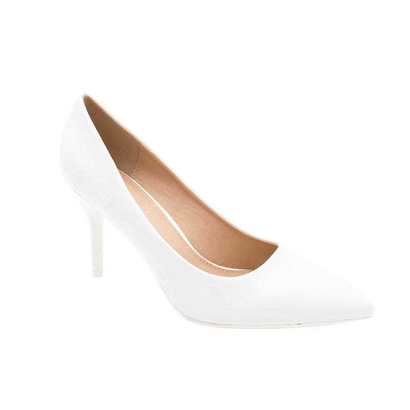 Escarpin Femme Aiguille - Chaussures Classique - Haut Talon 8 CM Couleur BLANC