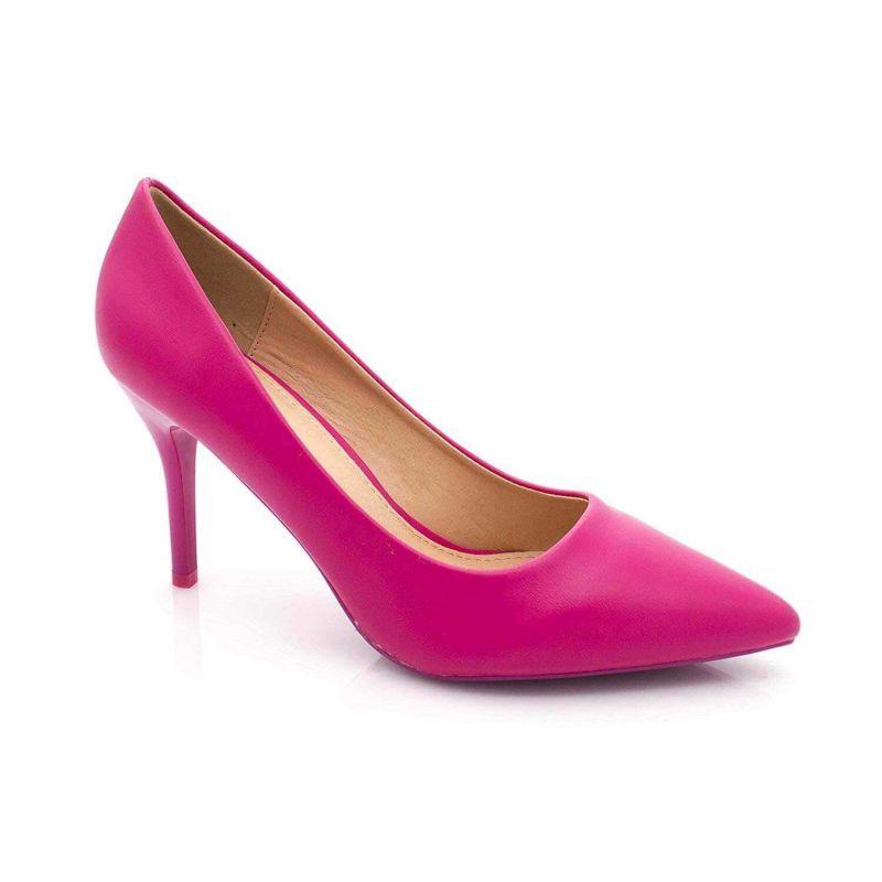 Escarpin Femme Aiguille - Chaussures Classique - Haut Talon 8 CM Couleur FUSHIA