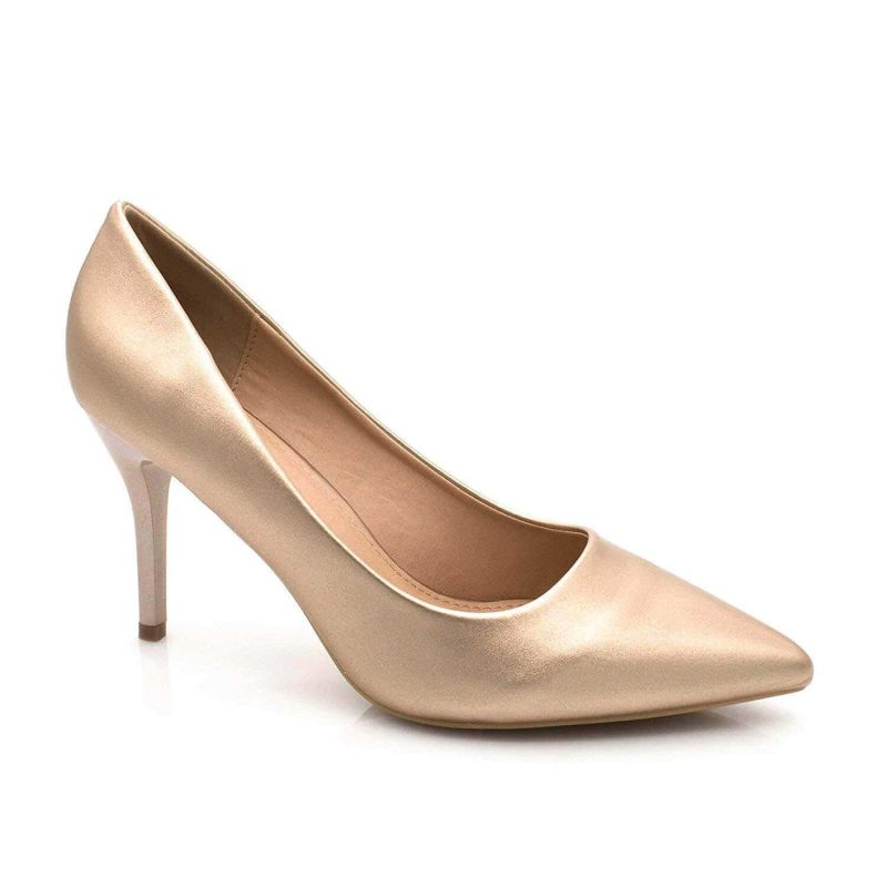 Escarpin Femme Aiguille - Chaussures Classique - Haut Talon 8 CM Couleur CHAMPAGNE