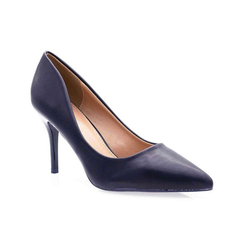 Escarpin Femme Aiguille - Chaussures Classique - Haut Talon 8 CM Couleur BLEU MARINE