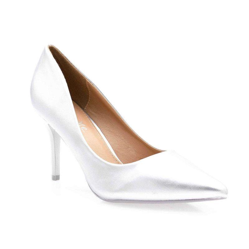 Escarpin Femme Aiguille - Chaussures Classique - Haut Talon 8 CM Couleur ARGENT