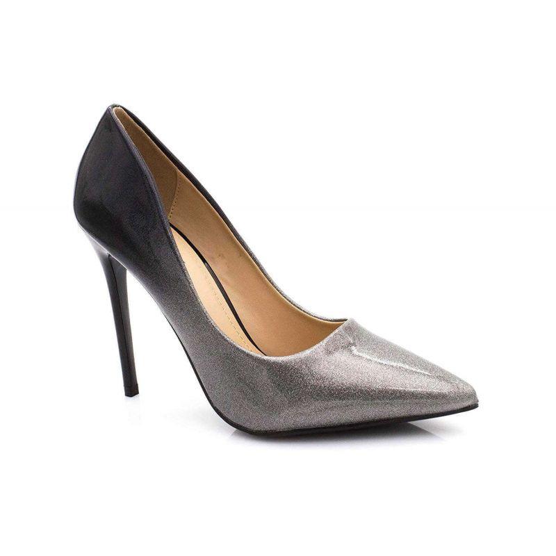 Escarpin Femme Vernis - Chaussure Escarpin Dégradées Talon Fin - Talon Aiguille Haut Sexy 11CM Couleur ARGENT