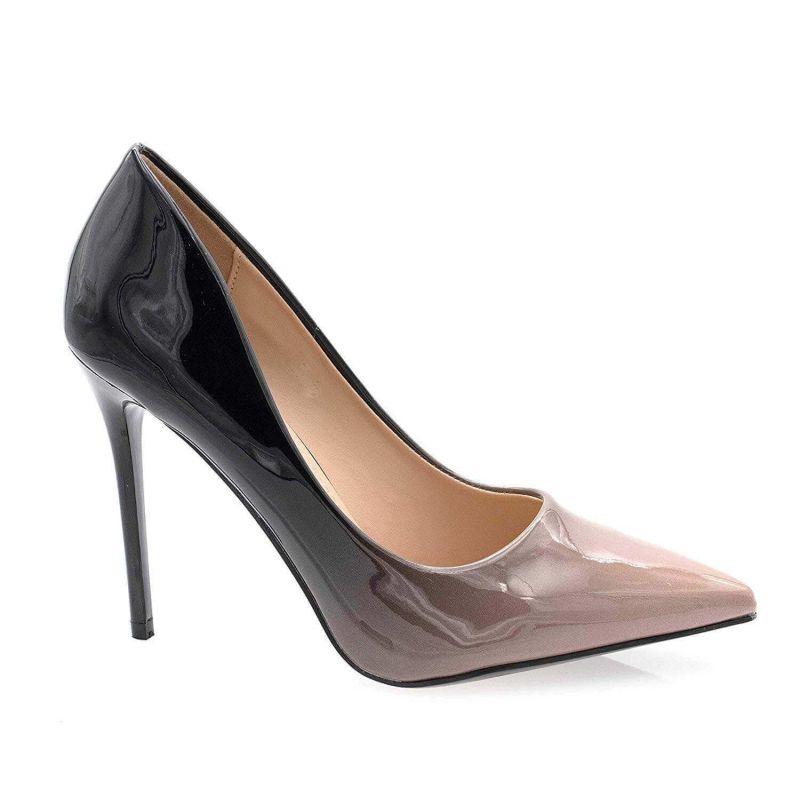 Escarpin Femme Vernis - Chaussure Escarpin Dégradées Talon Fin - Talon Aiguille Haut Sexy 11CM Couleur TAUPE