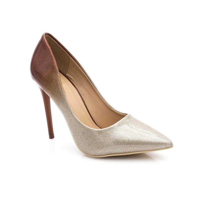 Escarpin Femme Vernis - Chaussure Escarpin Dégradées Talon Fin - Talon Aiguille Haut Sexy 11CM Couleur CHAMPAGNE