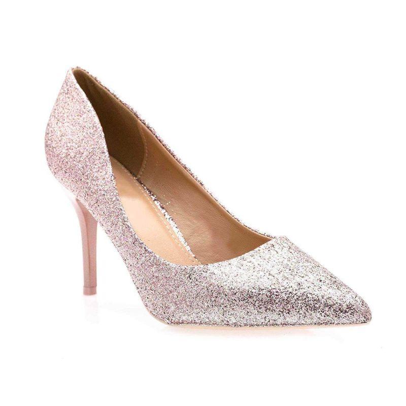 Escarpins Femmes Talon Haut Sexy-Chaussures Anguille Talon Fin 9cm Couleur ROSE