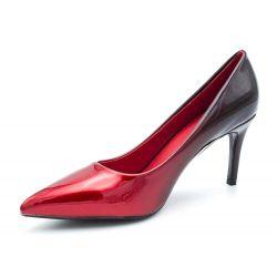 Escarpin Femme Vernis - Chaussure Dégradées Haut Talon Fin 8 CM 6621 Escarpins