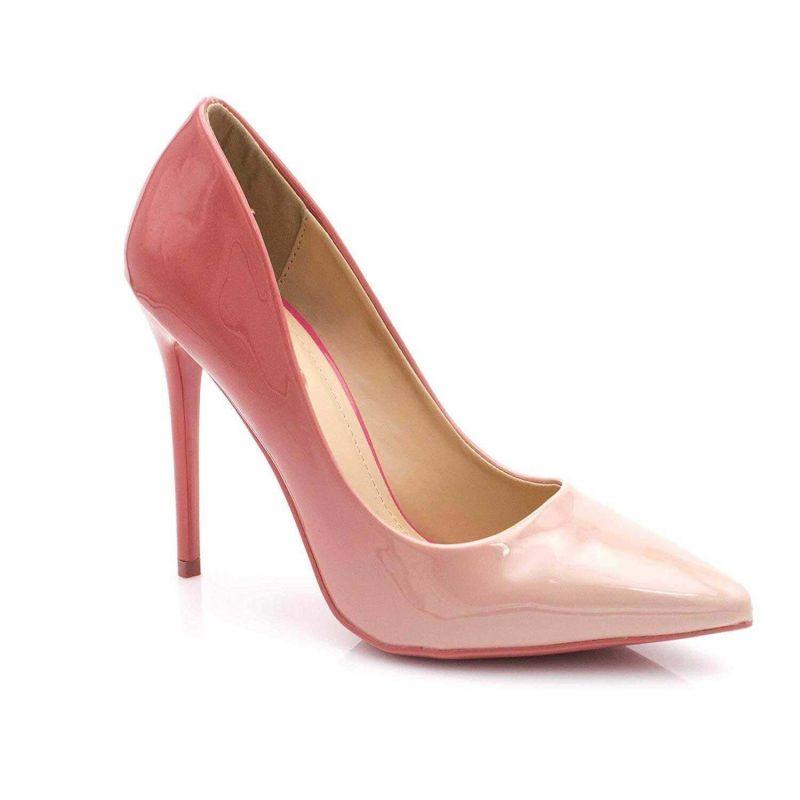 Escarpin Femme Vernis - Chaussure Escarpin Dégradées Talon Fin - Talon Aiguille Haut Sexy 11CM Couleur ROSE