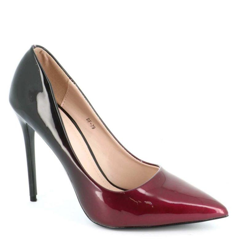 Escarpin Femme Vernis - Chaussure Escarpin Dégradées Talon Fin - Talon Aiguille Haut Sexy 11CM Couleur BORDEAUX