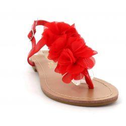 Queen Vivi Sandale Femme A Fleurs - Chaussures Eté Plates Simili-Cuir Confortables - Légère Chic Classique 069 Sandales et Nu...