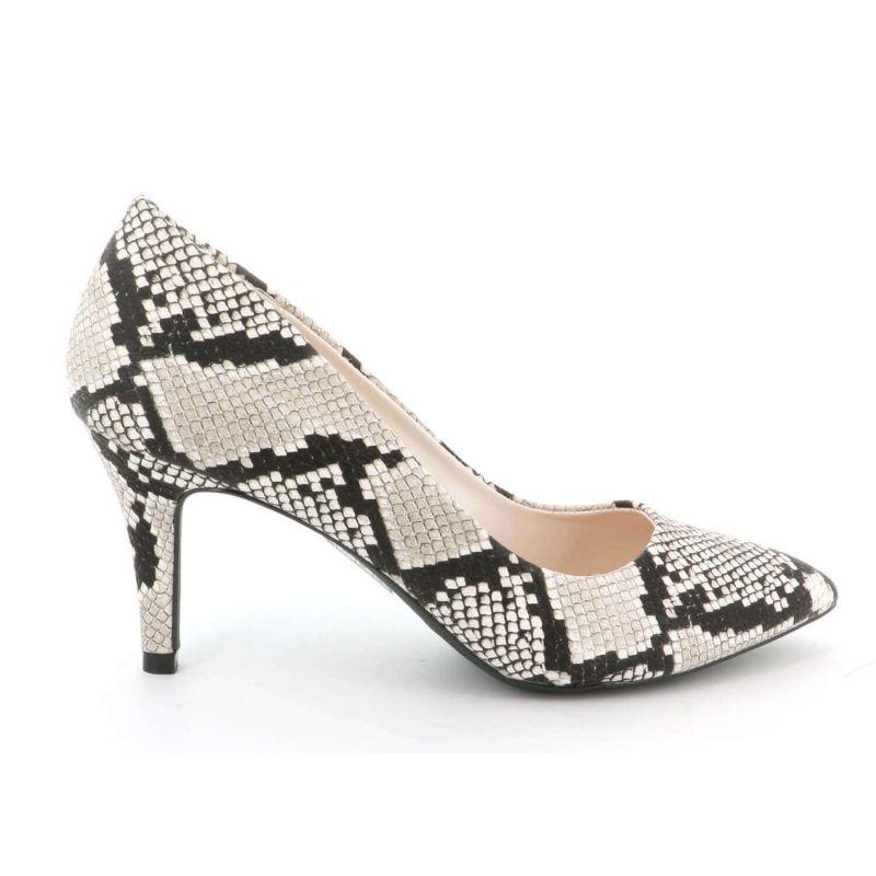 Escarpin Femme En Daim - Chaussures Couleur Unie Classique - Haut Talon Cérémonie - Sexy Mariage Chic Elégant Couleur SERPENT