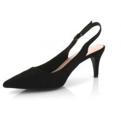 Queen Vivi Escarpin Femme Aiguille Lanière Bouclé En Arrière - Sandale Bout fermé Talon 7 Cm - Chaussures Eté En Velours 553 ...