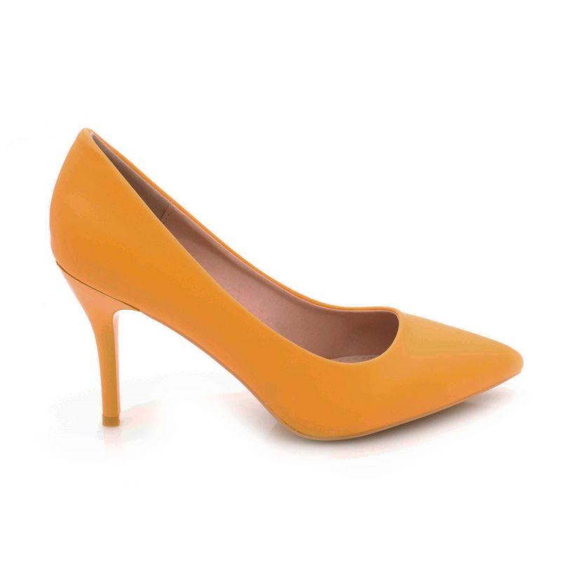 Escarpin Femme Aiguille - Chaussures Classique - Haut Talon 8 CM Couleur MOUTARDE
