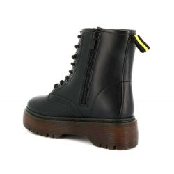 Queen Vivi Bottine Femme Plateforme - Botte Ranger PU Cuir / Serpent Talon Compensé K-1 Bottines