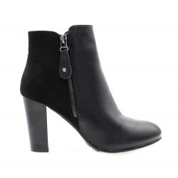 Queen Vivi Bottines Femme Chelsea Simili Cuir daim J104 Bottines
