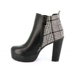 Queen Vivi Bottines Femme Chelsea Originales - Boot Bi-matière LL005 Bottines