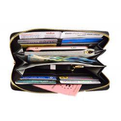 Portefeuille Long Tout en Un Femme - Porte-Carte Monnaie zippé Portefeuilles Flora & Co 11,99€