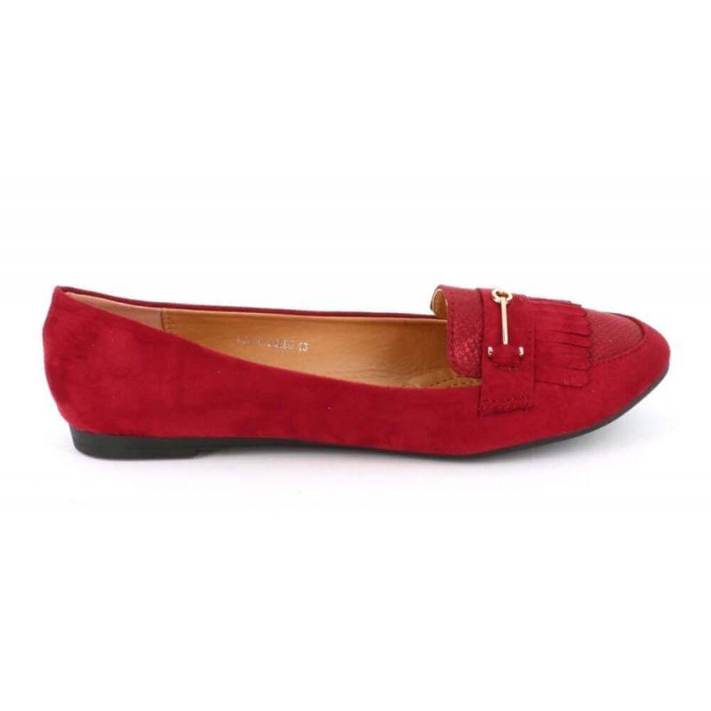 Cink-me Mocassin Plat Femme A Franges Grande Taille - Chaussures En Daim Bouts Ronds M8D5