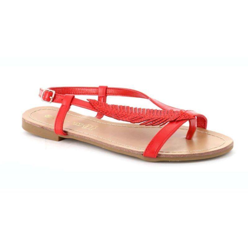 Queen Vivi Nu-pieds femme simili cuir à feuille strass 1-50 Sandales et Nu-pieds
