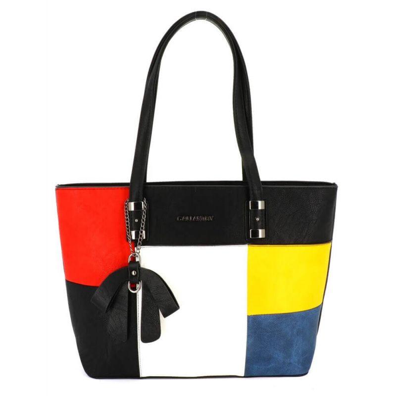 Sac Cabas Shopping Femme Grand Format A4 - Sac Cours Lycée Fille Couleur NOIR