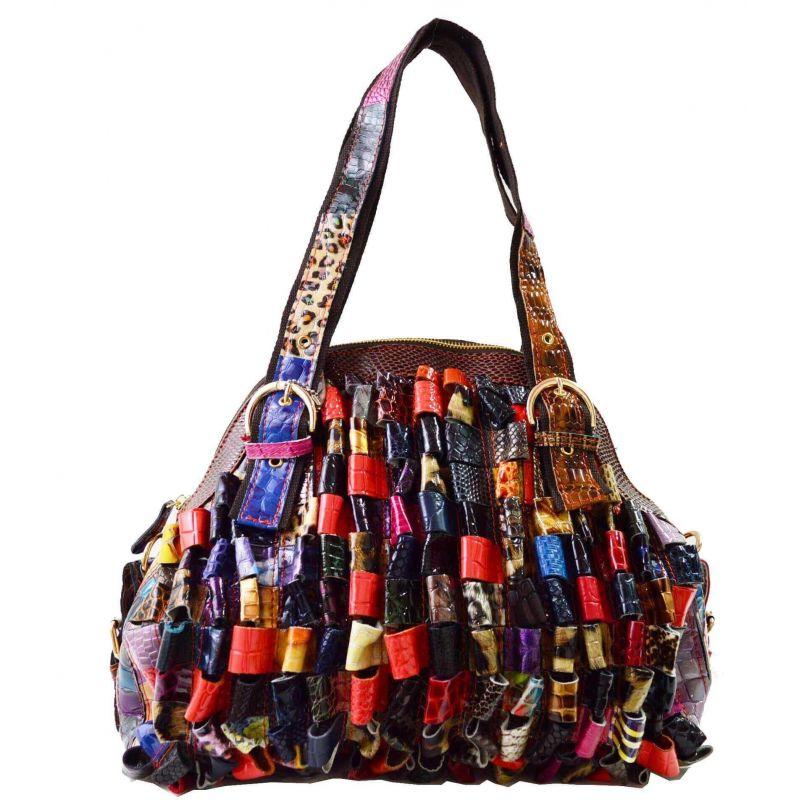 Sac A Main Bandoulière Verni Multicolor - En Vrai Cuir Vintage Sacs à main DoubleTree 62,99€