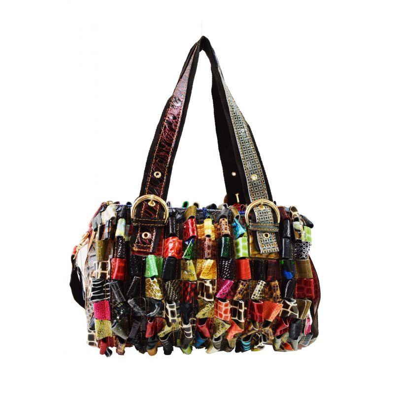 Sac A Main Bandoulière Verni Multicolor - En Vrai Cuir Vintage Sacs à main DoubleTree 54,99€