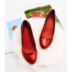 Escarpin Femme Vernis - Chaussures Bicolore Effet Dégradé Dames - Talon Conique Hauteur Moyen 6CM 6672 Escarpins