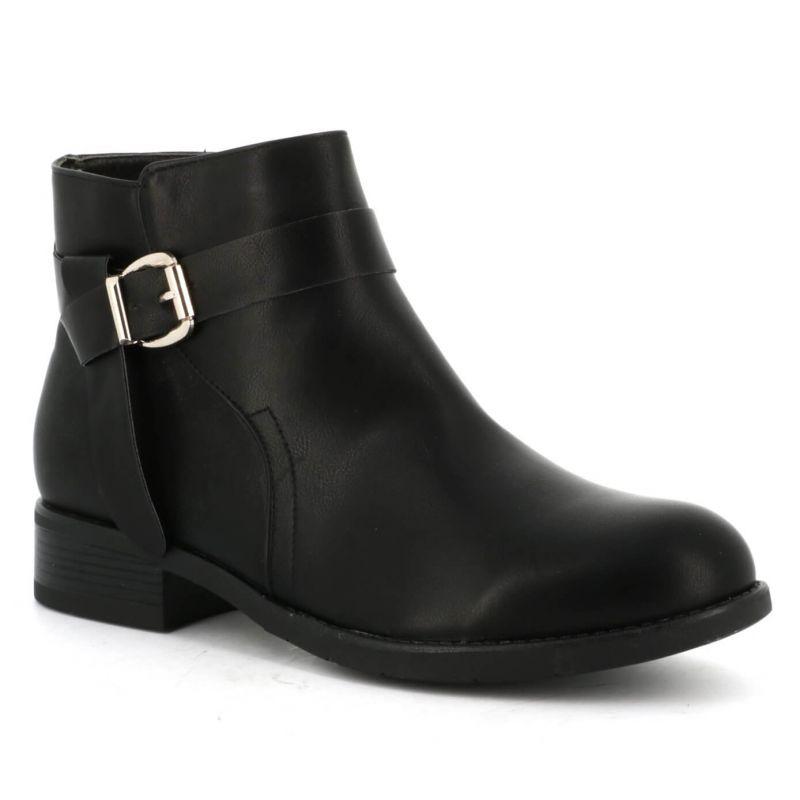 Bo'aime Boots femme grande taille brides talon bloc DM19B-3 Grandes Tailles