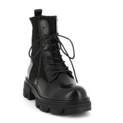 Cink-me Boots Femmes similicuir et tricotés semelle crantée WYY02 Bottes et Bottines