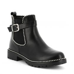 Queen Vivi Boots Chelsea femme à billes boucle argenté MR-20 Bottes et Bottines