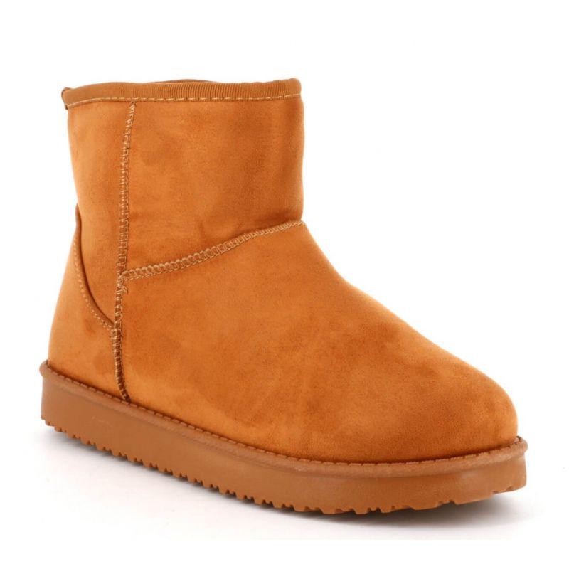 Boots femme casual textile avec doublure chaude pour l'hiver Couleur CAMEL