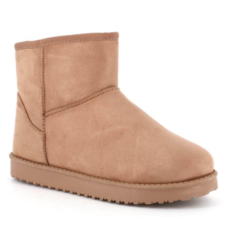 Boots femme casual textile avec doublure chaude pour l'hiver Couleur KHAKI