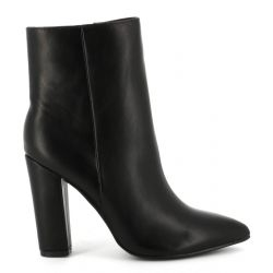 Cink-me Boots femme unis à haut talon carré tige montante en similicuir KX-K02 Bottes et Bottines