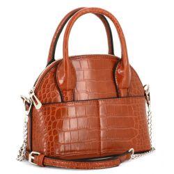 Flora and Co Mini sac à main arrondi avec détail argenté et effet croco 8015 Sacs à main