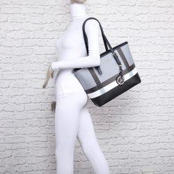 Grand sac à main rayure pendentif 7419 Sacs cabas