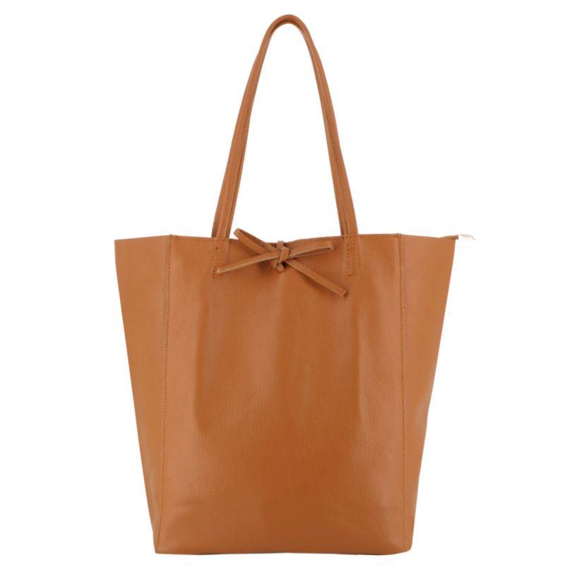 Sac à main femme shopping en cuir véritable Couleur CAMEL